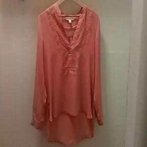 Peach long blouse